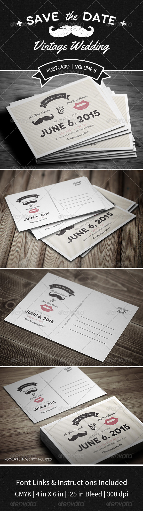 GraphicRiver Save The Date Postcard Volume 5 5274338