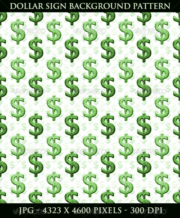 GraphicRiver Dollar Sign Background Pattern 5274556