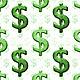 Dollar Sign Background Pattern - GraphicRiver Item for Sale