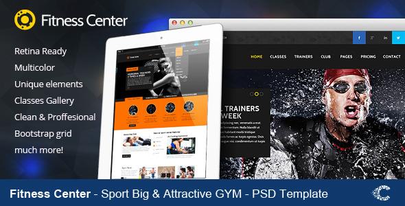 ThemeForest Fitness Center Premium Retina PSD 5254444