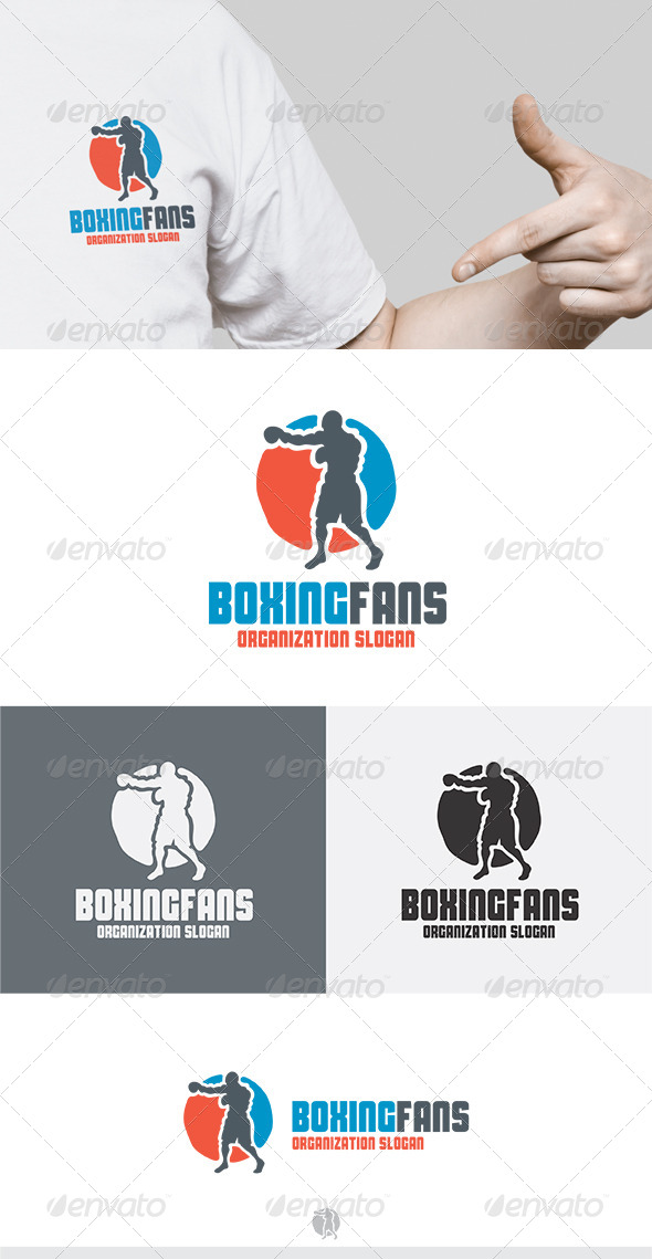 GraphicRiver Boxing Fans Logo 5275152