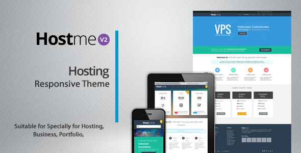 ThemeForest Hostme v2 Responsive Wordpress Theme 5275274