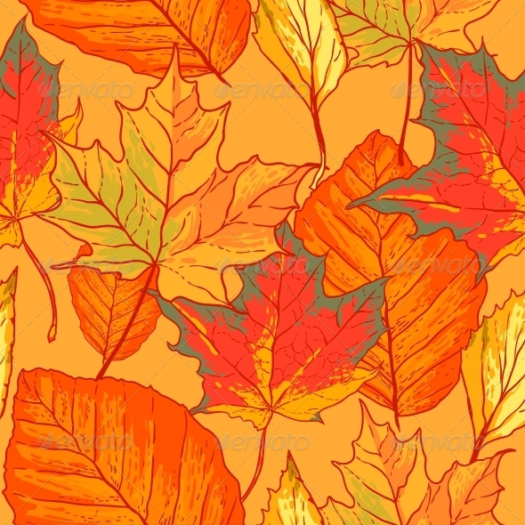 GraphicRiver Seamless Pattern with Leaves 5275336