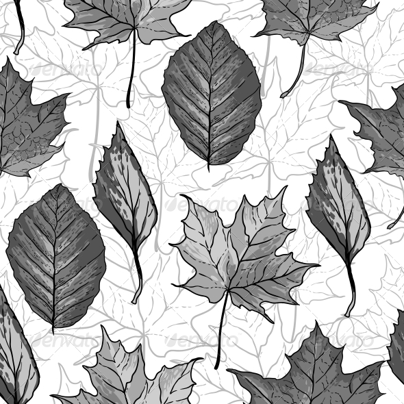 GraphicRiver Seamless Background with Leaves 5275342