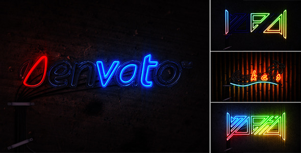 Neon Light 5249001   After Effects, Cinema 4D & Apple Motion Templates