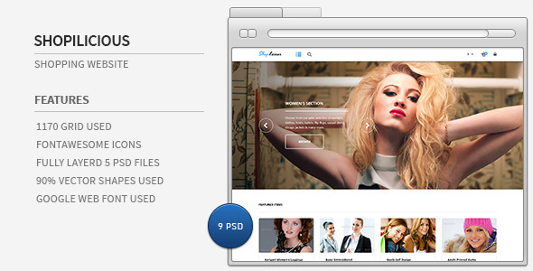 ThemeForest Shopilicious Shopping website 5275631