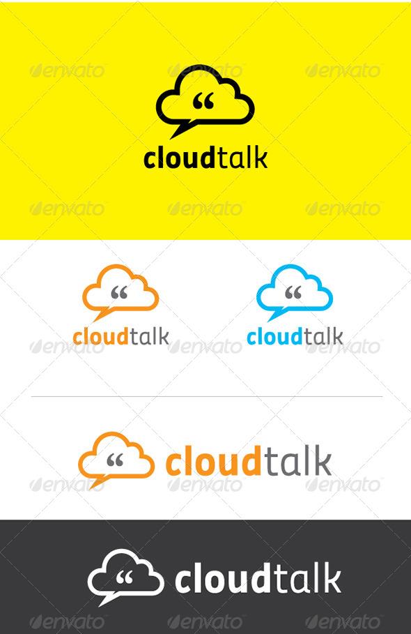 GraphicRiver Cloud Talk Logo Template 5258872