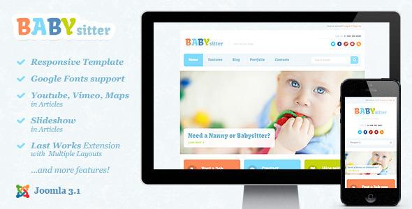 ThemeForest Babysitter Responsive Joomla Template 5263450