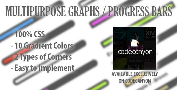 CSS Multipurpose Responsive Graphs & Progress Bars - CodeCanyon Item for Sale