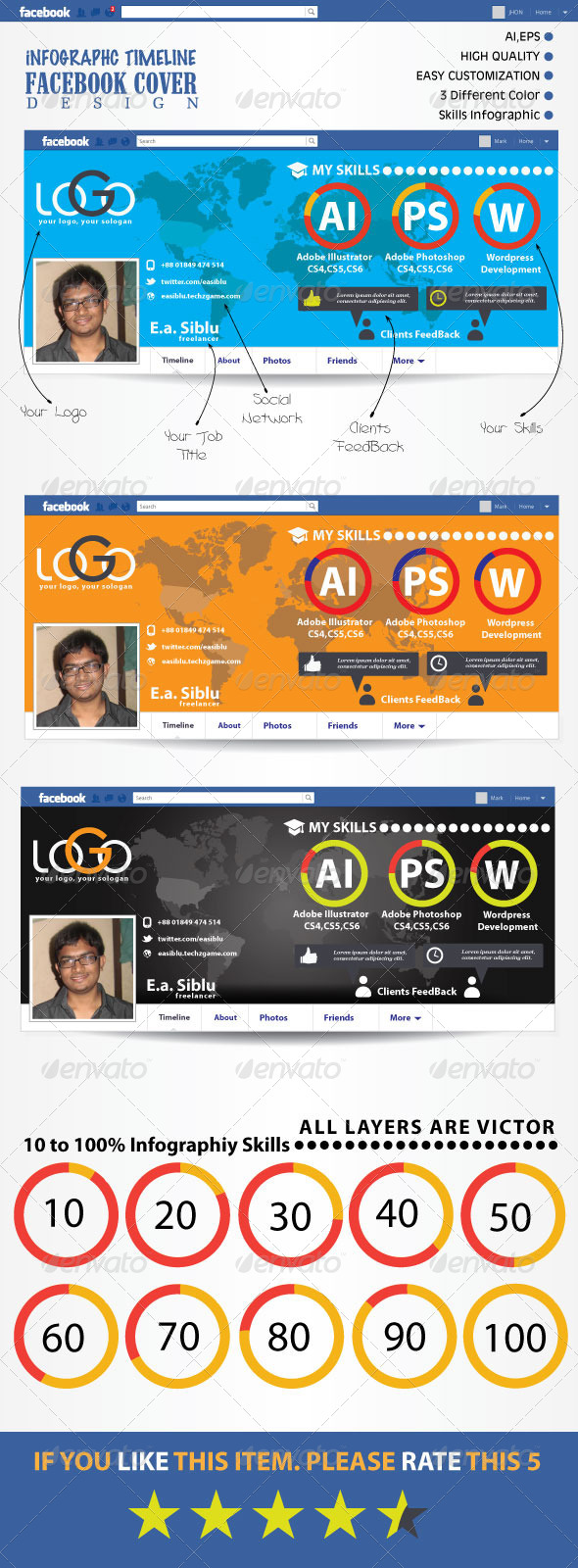 GraphicRiver Infographic FB Timeline Cover 5276592
