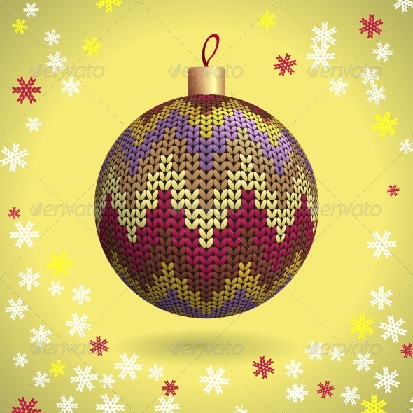 Knitted Christmas Ball