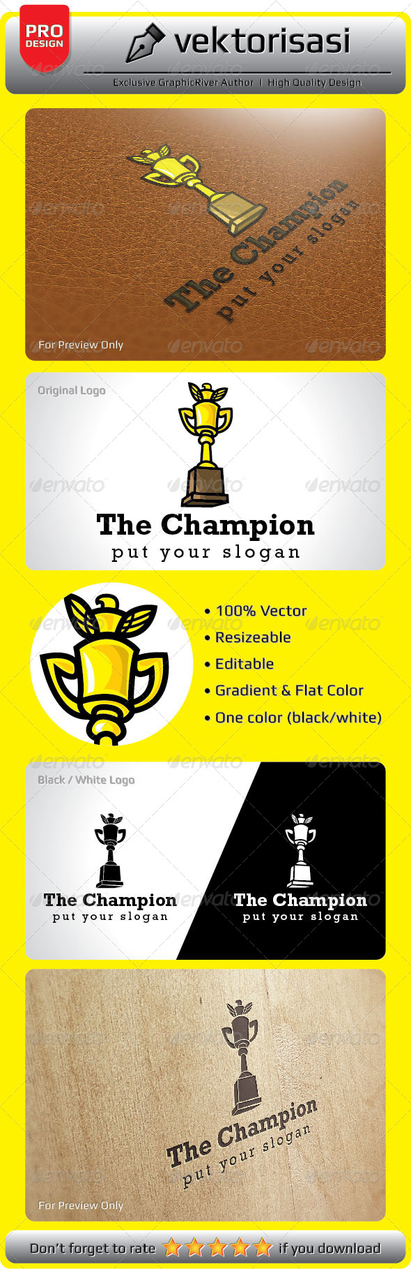 GraphicRiver The Champion Logo 5276977