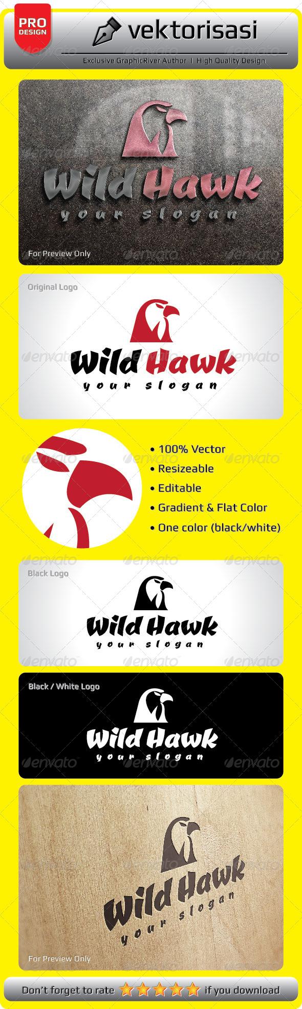 GraphicRiver Wild Hawk Logo 5277118