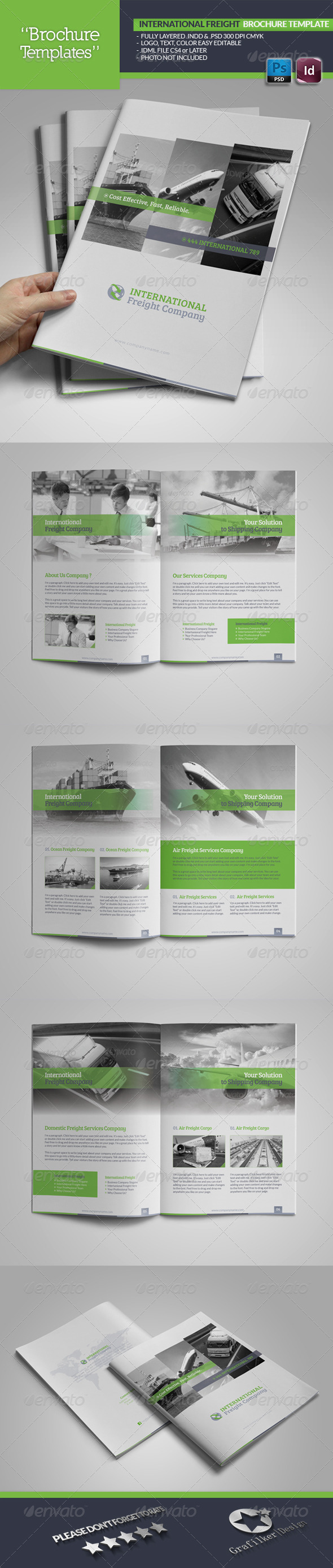 GraphicRiver International Freight Brochure Template 5277381