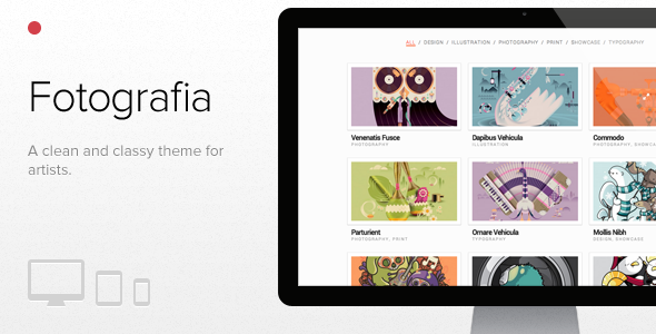 Fotografia, WordPress responsive theme for artists