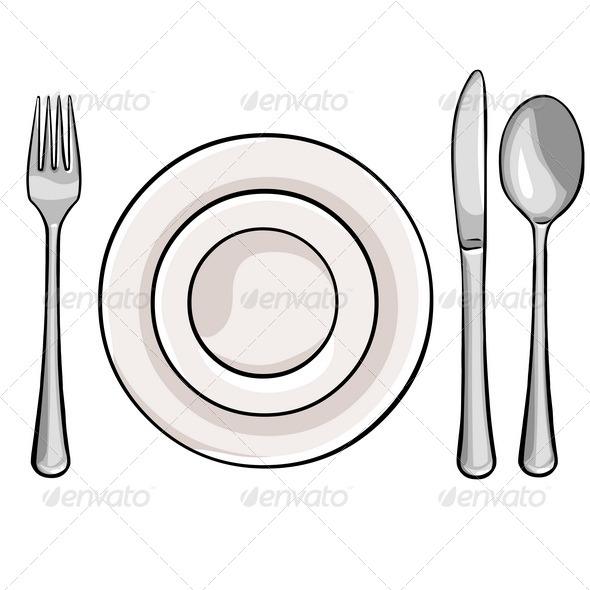 Cutlery Fork Plate Knife Spoon
