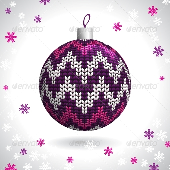 GraphicRiver Knitted Christmas Ball 5277608