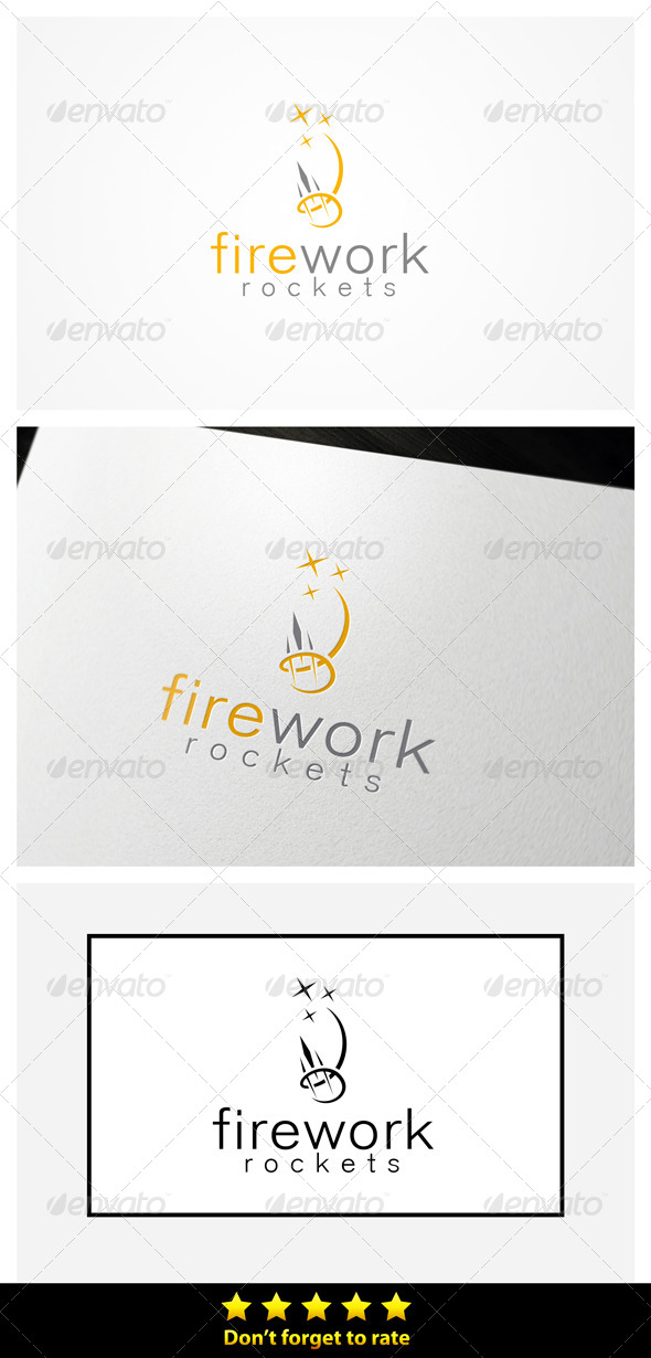 Happy Fireworks - Symbols Logo Templates