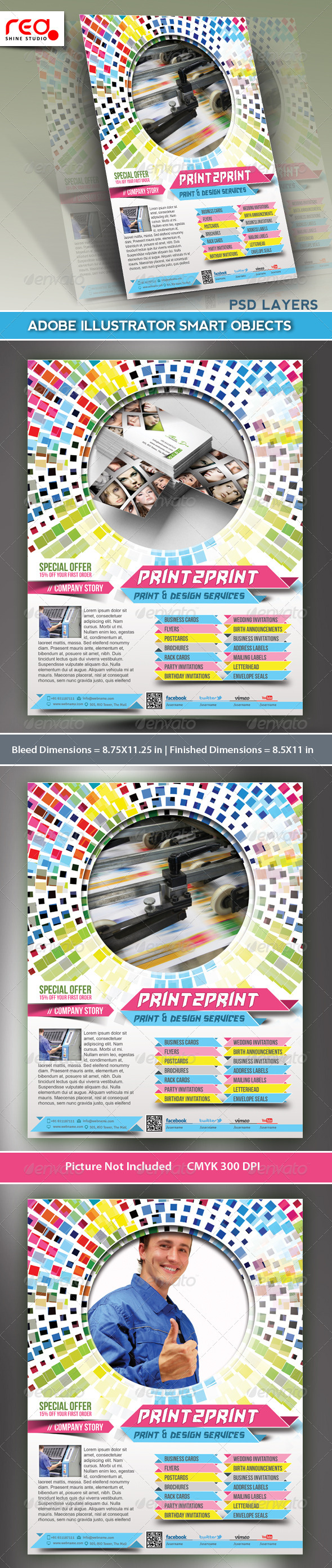 GraphicRiver Printing Press Flyer Poster Template 5277735