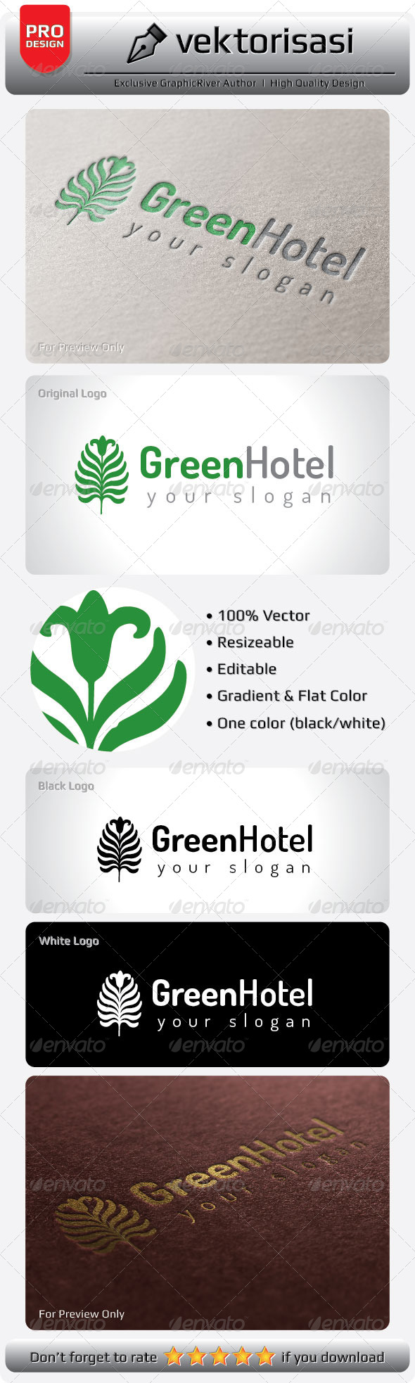 GraphicRiver Green Hotel Logo 5277734