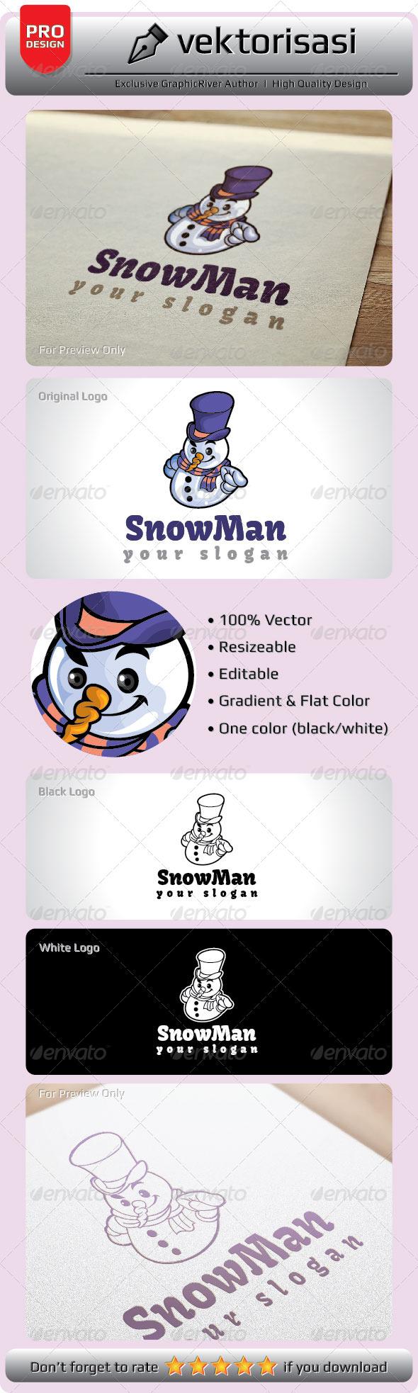 GraphicRiver SnowMan Logo 5278083