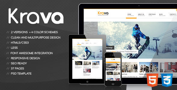 Krava - Responsive Multipurpose Template - Creative Site Templates