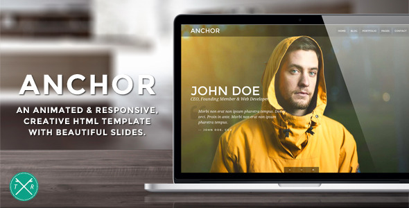 Anchor - Animated Parallax HTML5 Template
