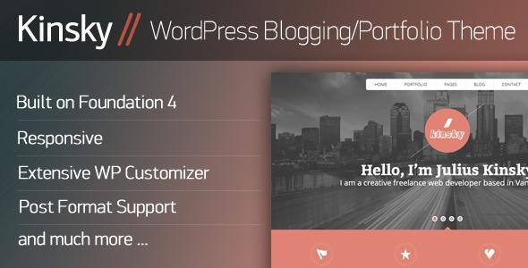 ThemeForest Kinsky WordPress Blogging Portfolio Theme 5263252