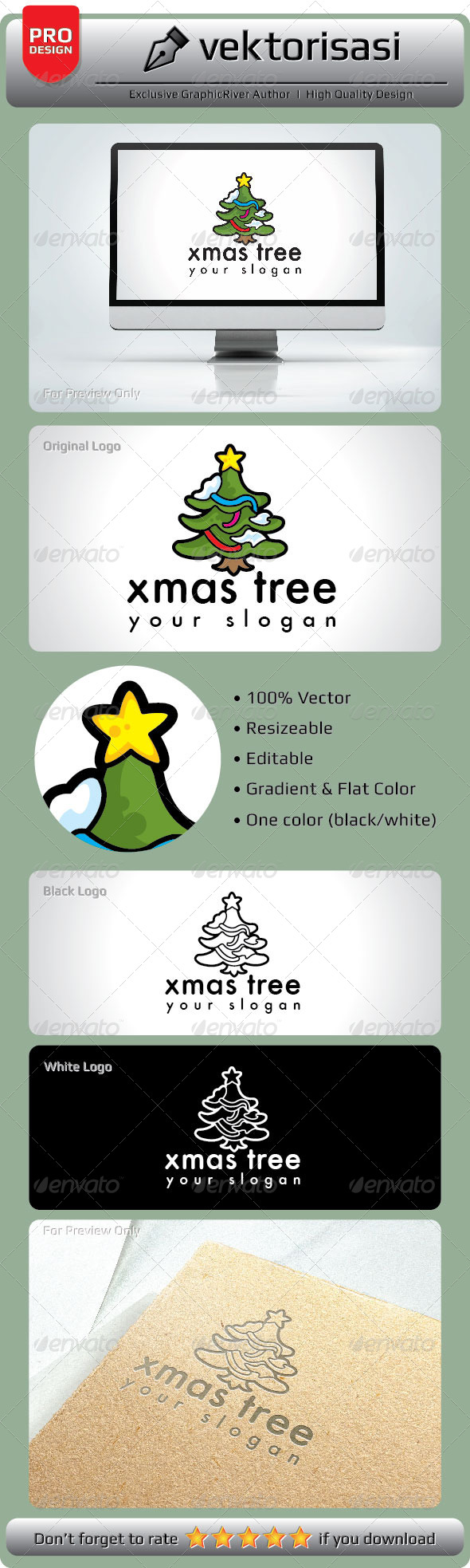 GraphicRiver Xmas Tree Logo 5278171
