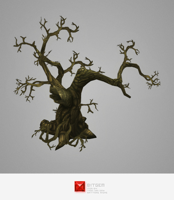 3DOcean Low Poly Dead Tree Pack 5278198