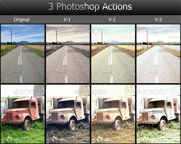 GraphicRiver 3 Photoshop Actions 5278221