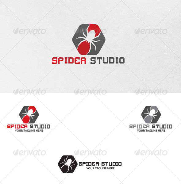 Spider Studio Logo Template