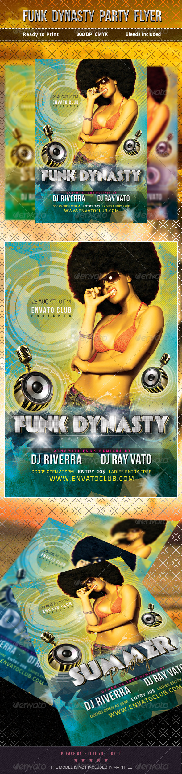 GraphicRiver Funk Dynasty Party Flyer 5189648
