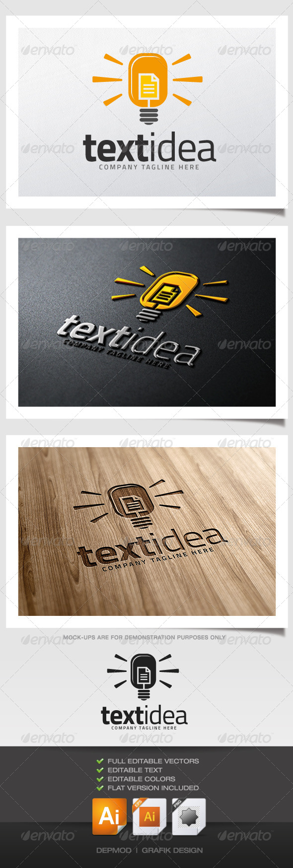 GraphicRiver Text Idea Logo 5279106