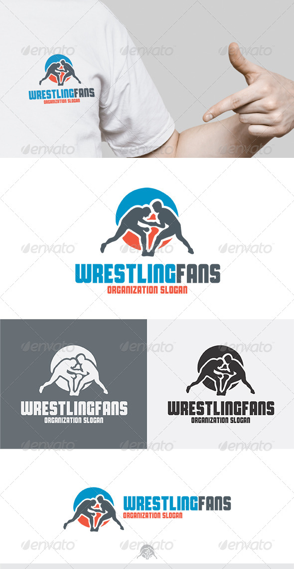 Wrestling Fans Logo - Humans Logo Templates