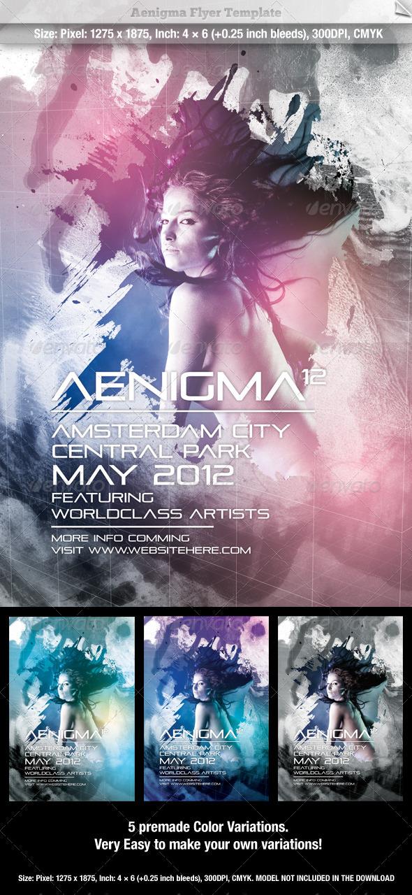 GraphicRiver Aenigma Flyer Template 542546