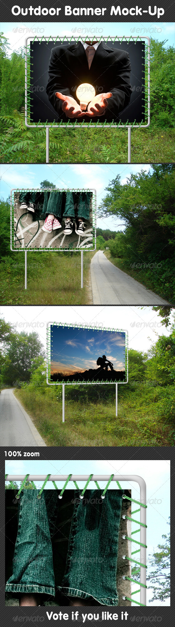 GraphicRiver Outdoor Banner Mock-Up 5279689
