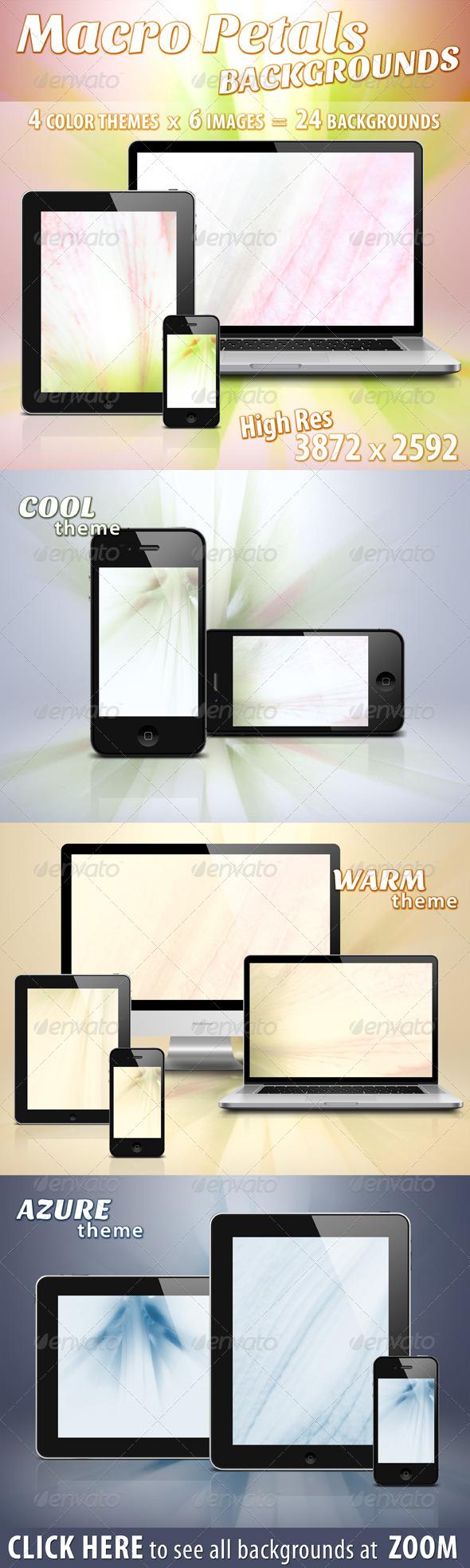 GraphicRiver Soft Macro Petals Backgrounds 5279928