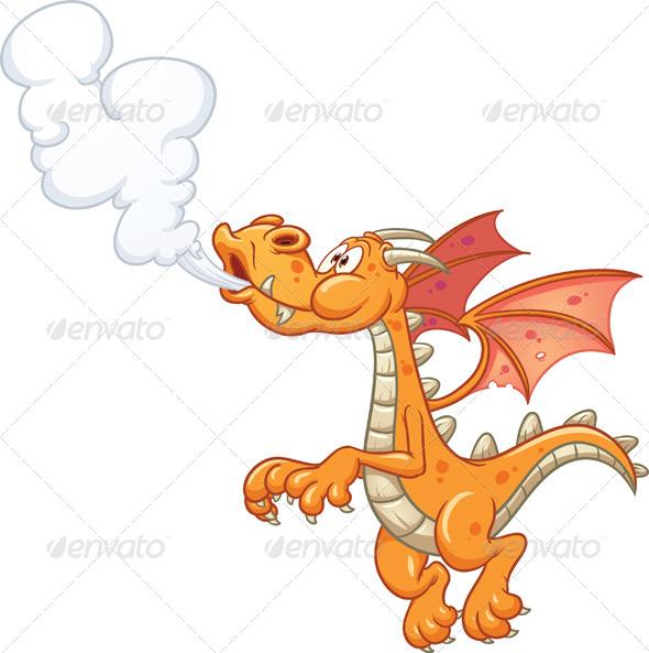 GraphicRiver Smoking Dragon 5280161