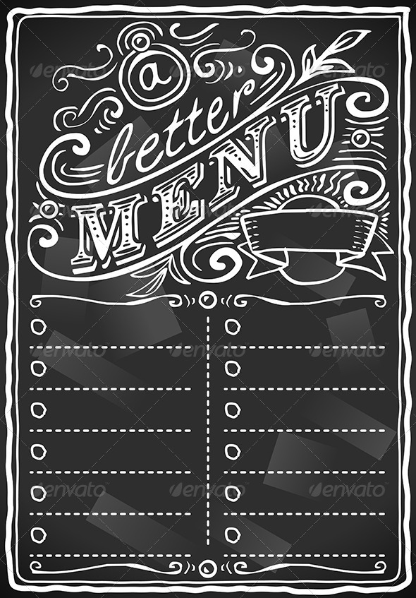 GraphicRiver Vintage Graphic Blackboard Menu for Restaurant 5280172
