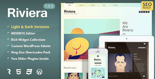 Riviera wordpress theme download