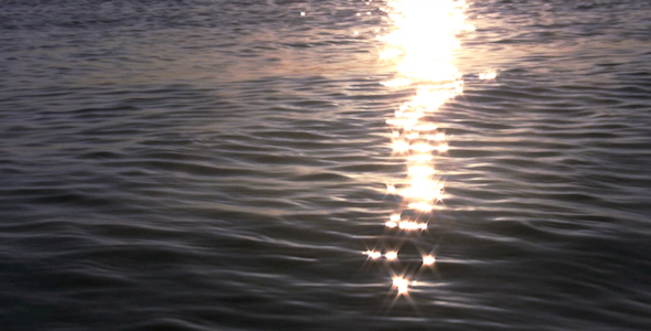 Sparkling Sunset Waves I