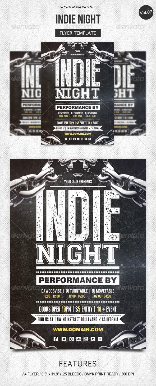 GraphicRiver Indie Night Flyer [Vol.7] 5280989