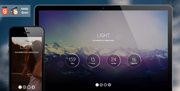 Light - Coming Soon Page