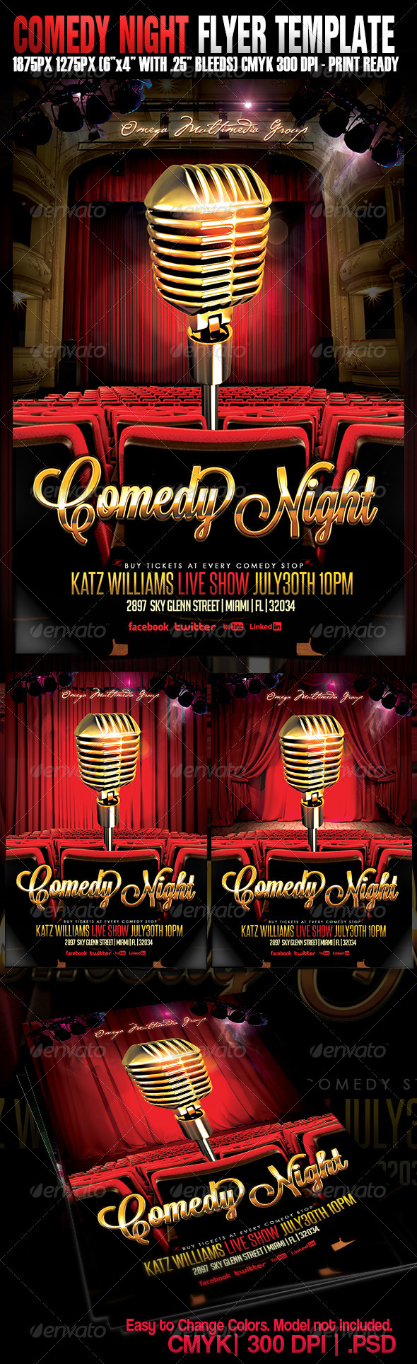 GraphicRiver Comedy Night 5230304