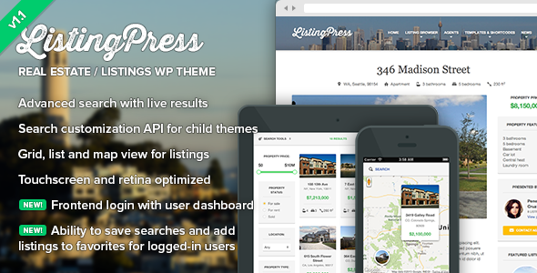 ListingPress - Real Estate & Listings WP Theme