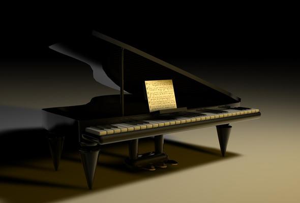 3DOcean Piano 3D Model 542809