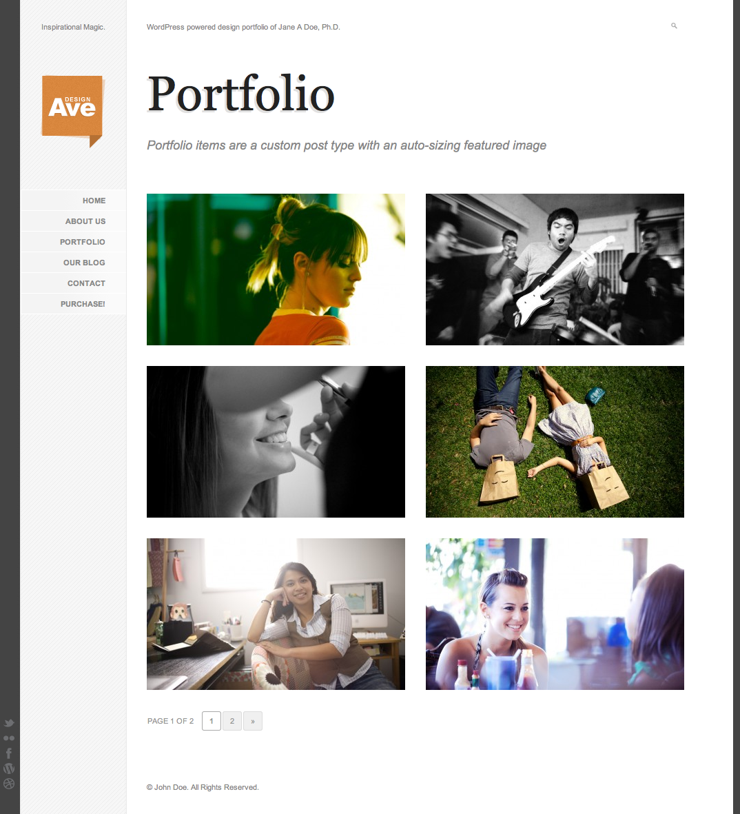Design Avenue WordPress Portfolio