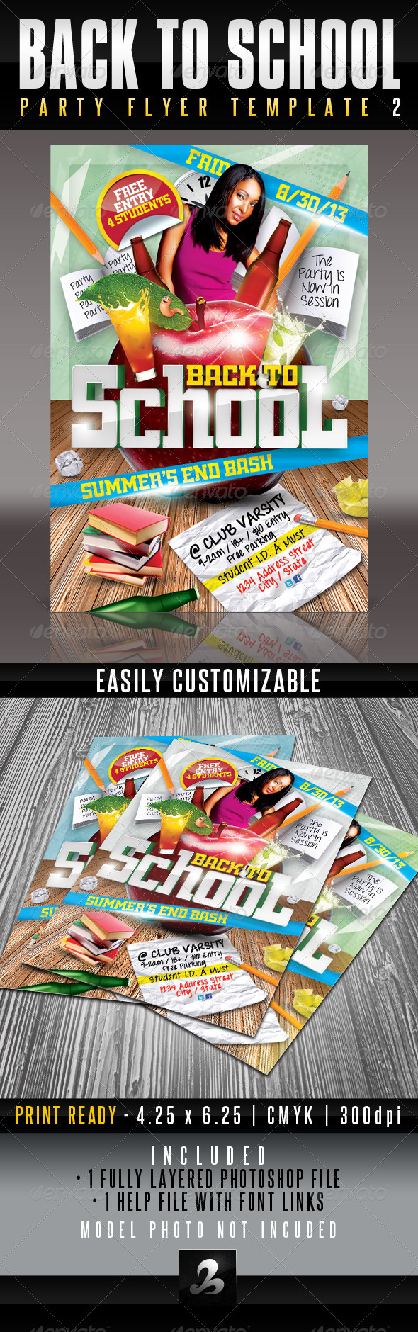 GraphicRiver Back To School Party Flyer Template 2 5281425