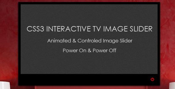 CodeCanyon CSS3 Interactive TV Image Slider 5281446